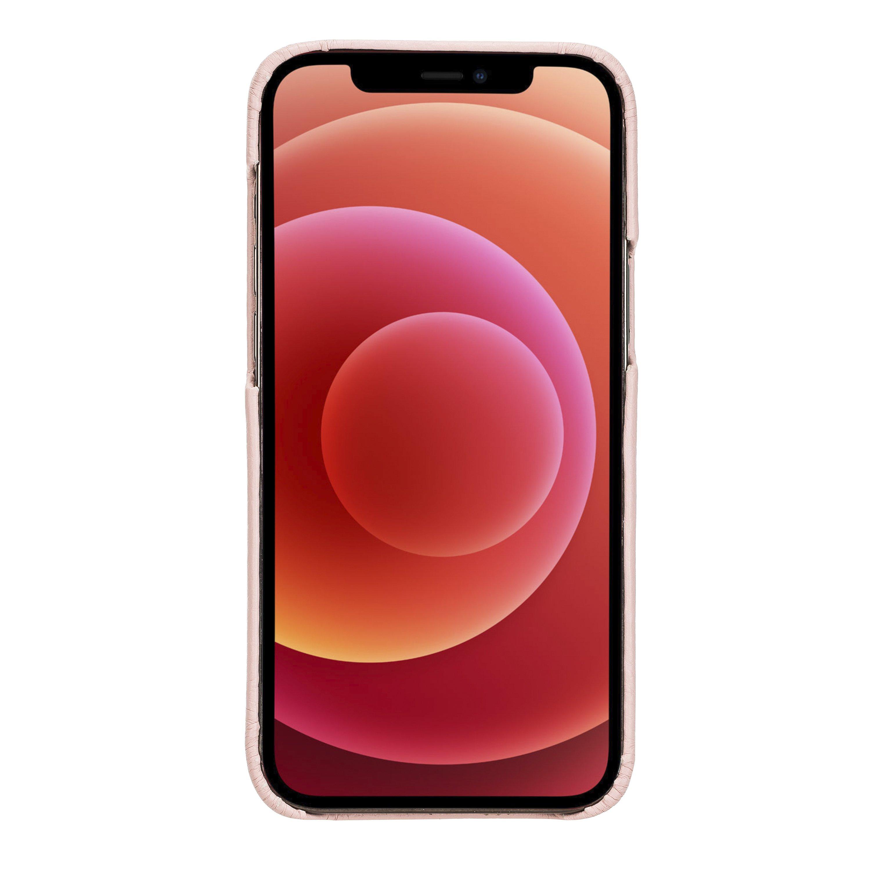 """iPhone 12 Mini Lederhülle """"Princeton"""" MagSafe kompatibel (Nude Rosa)"""