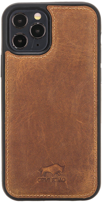 "iPhone 12 Pro Max Lederhülle ""Stanford"" MagSafe kompatibel (Camel Braun)"