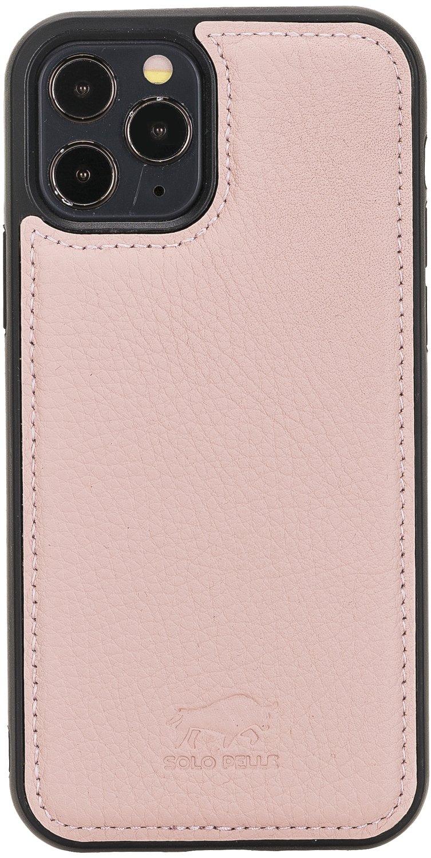 "iPhone 12 Pro Max Lederhülle ""Stanford"" MagSafe kompatibel (Nude Rosa)"