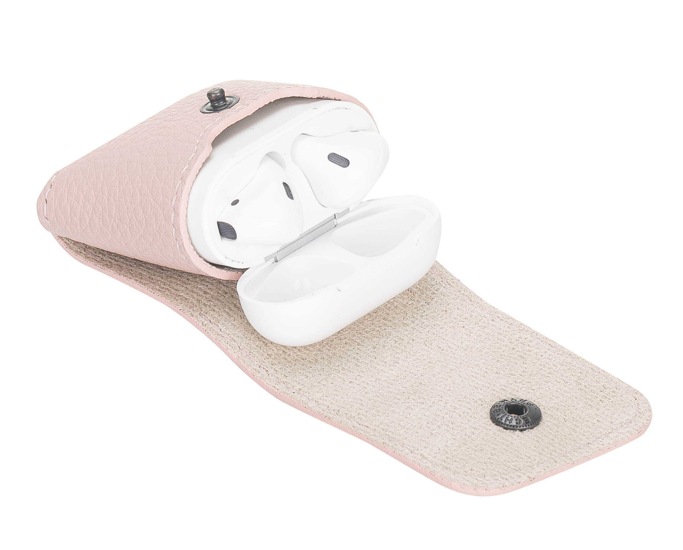 Lederhülle Noah für Apple Airpods 1 + 2 Generation (Nude Rose)
