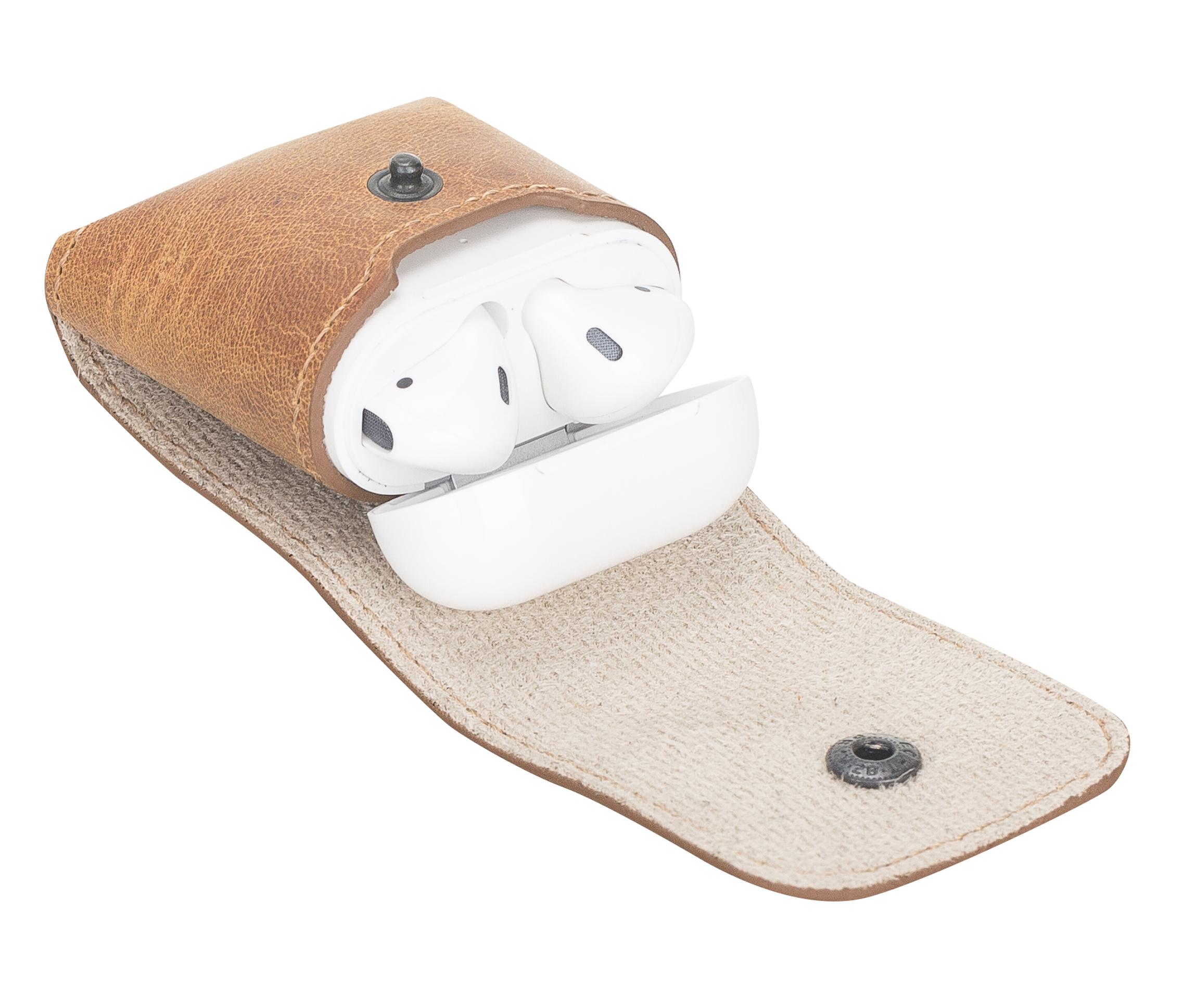 Lederhülle Noah für Apple Airpods 1 + 2 (Camel Braun)