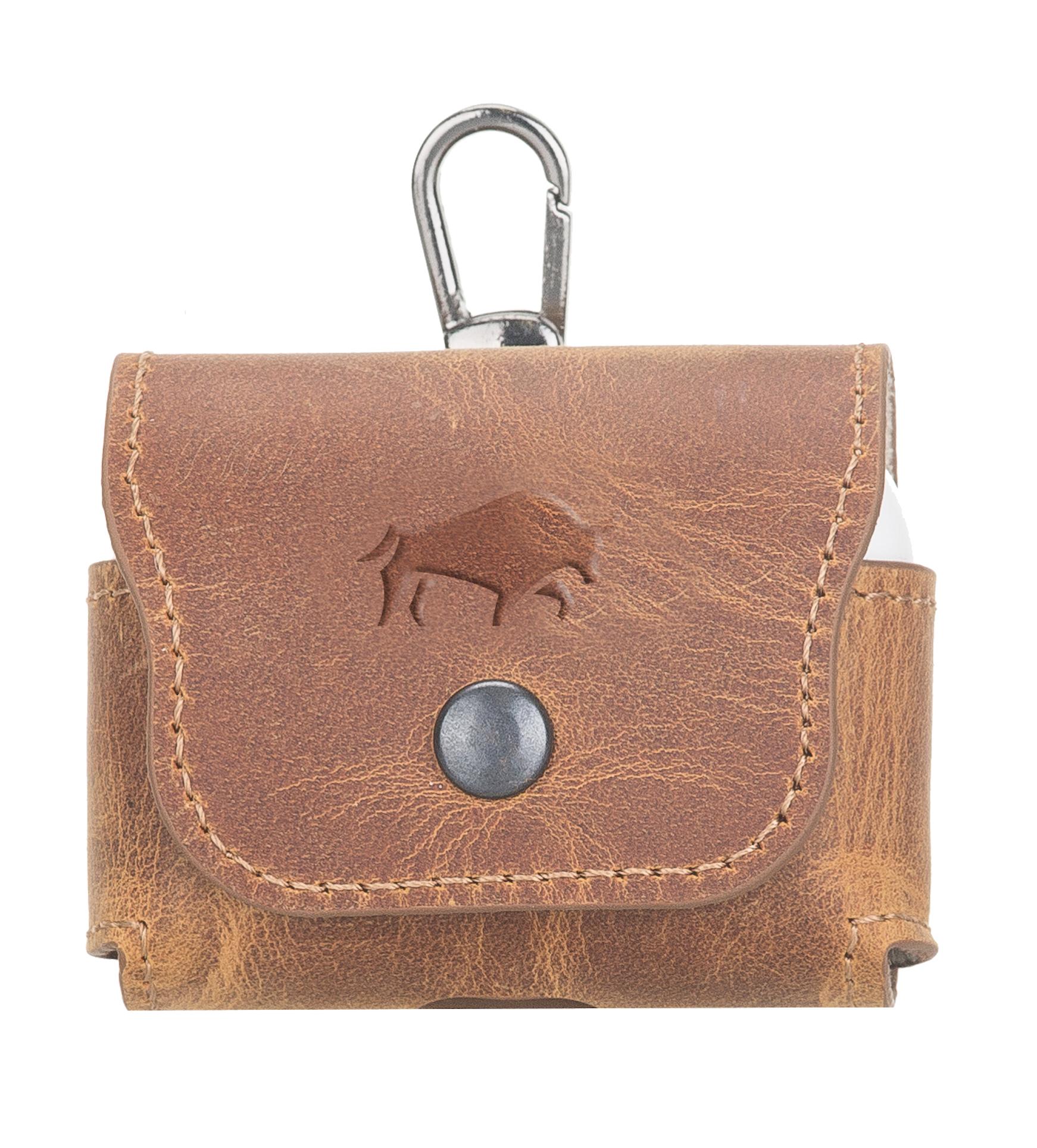Ledercase für AirPods Pro (Camel Braun)