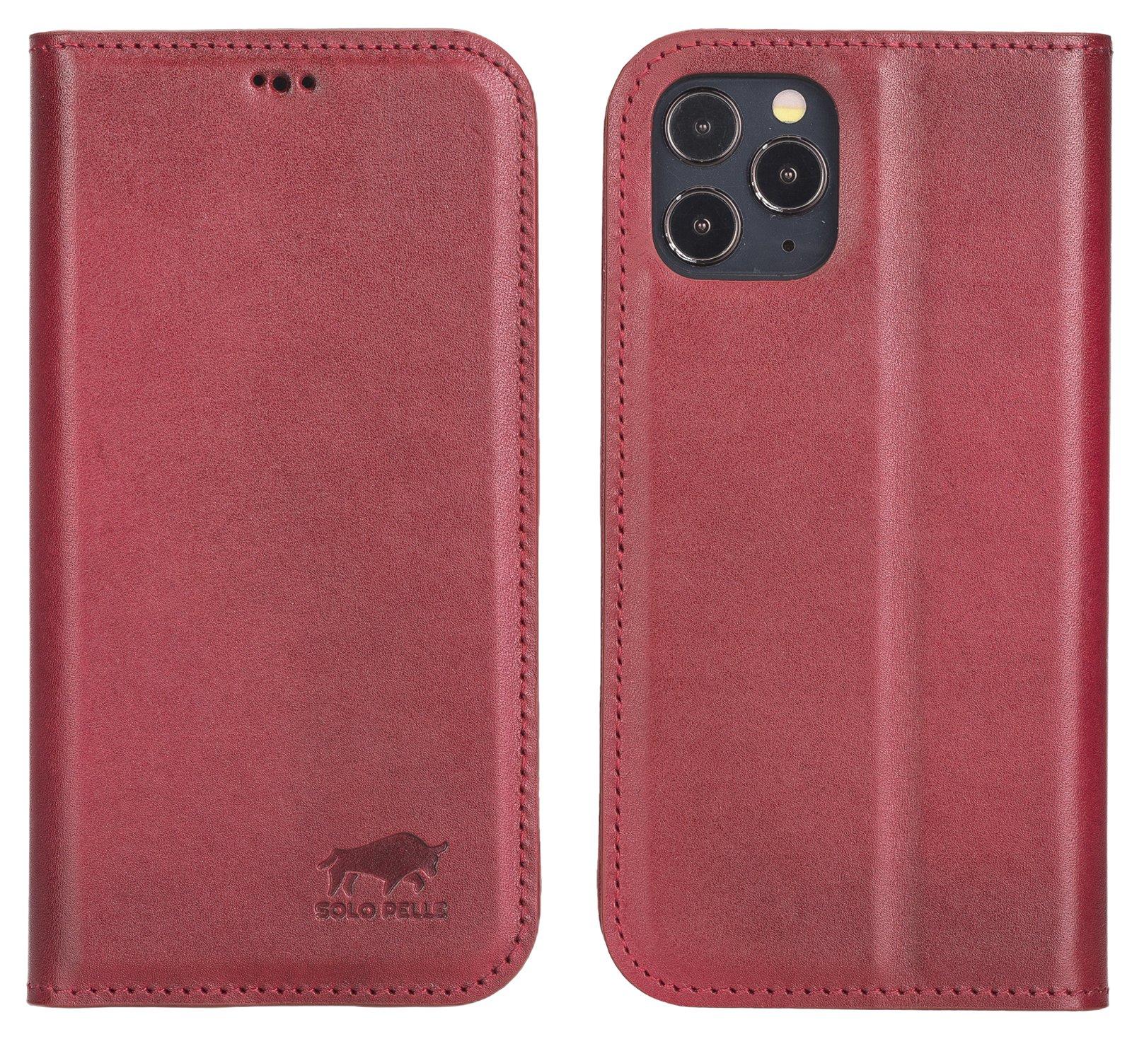 Lederhülle für iPhone 12 I 12 Pro (Cognac Braun Burned)