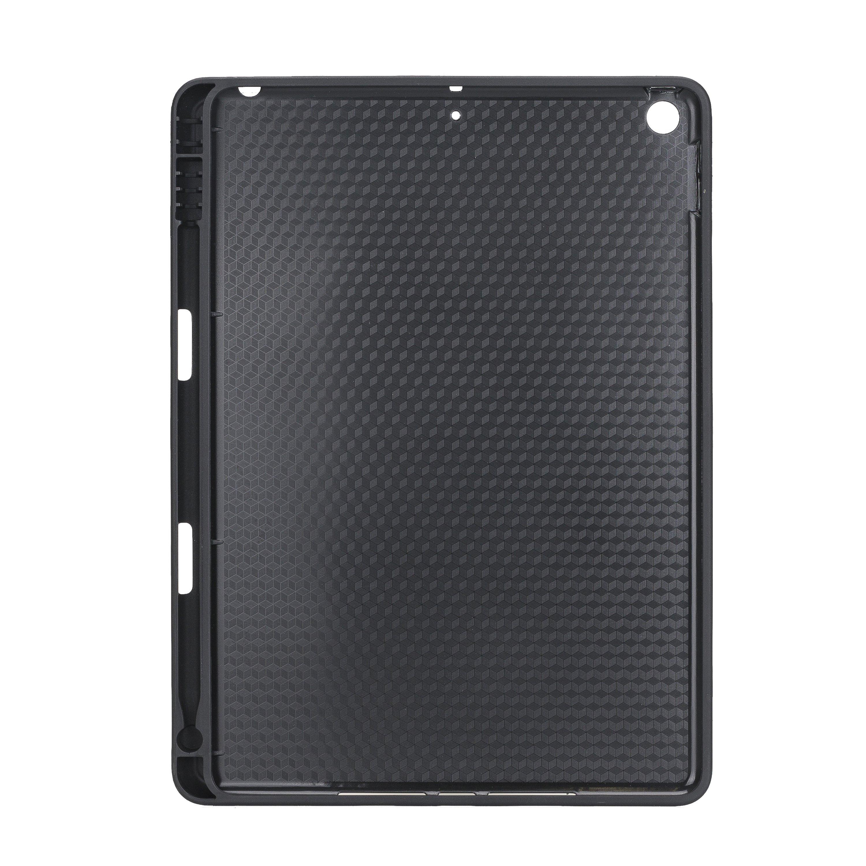 Solo Pelle Hülle geeignet für Apple iPad 10.2 (7 + 8 Generation) Echtleder Case aus echtem Leder. Unterstützt Pencil inkl. Ledergriff (Matt Schwarz)