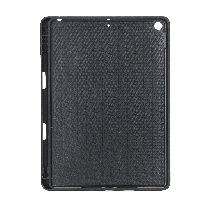 Solo Pelle Hülle geeignet für Apple iPad 10.2 (7 + 8 Generation) Echtleder Case aus echtem Leder. Unterstützt Pencil inkl. Ledergriff