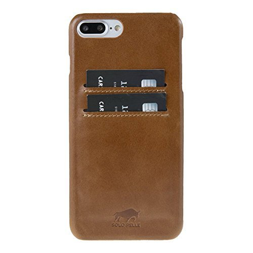 "iPhone 8 Plus / 7 Plus Hülle - ""Pomona"" - Cognac Braun aus Leder"