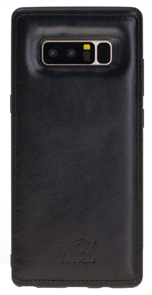"Samsung Note 8 Leder Hülle "" Flex "" aus echtem Leder in Schwarz"