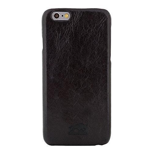 """iPhone 6 Plus / 6S Plus - """"Yale"""" - Glattleder Schwarz"""