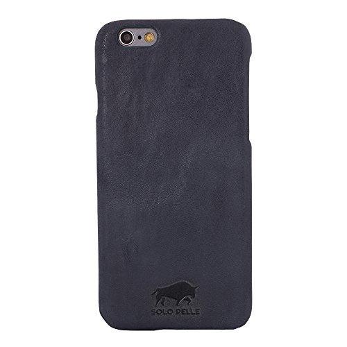 """iPhone 6 Plus / 6S Plus Hülle - """"Ultra Slim"""" - Vintage Blau aus Leder"""