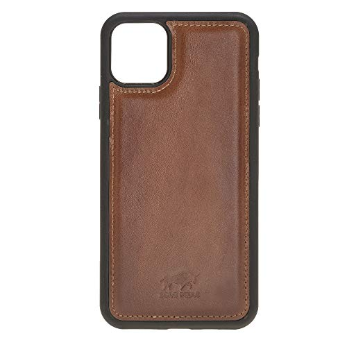 Solo Pelle Lederhülle für das iPhone 11 Pro (Max) 6.5 Zoll Stanford Case Leder Hülle Ledertasche Backcover aus echtem Leder (Cognac Braun Burned)