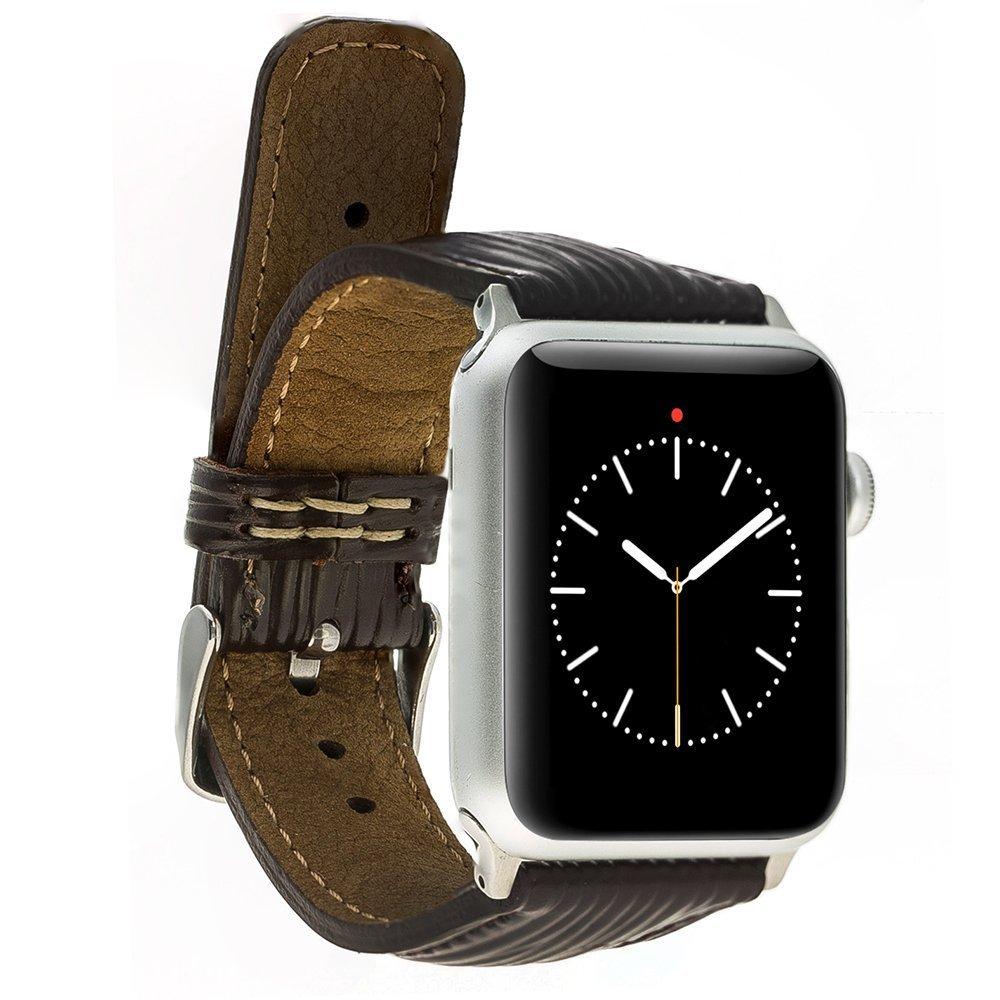 Apple Watch Lederarmband 42mm / 44 mm  in Epi Dunkelbraun
