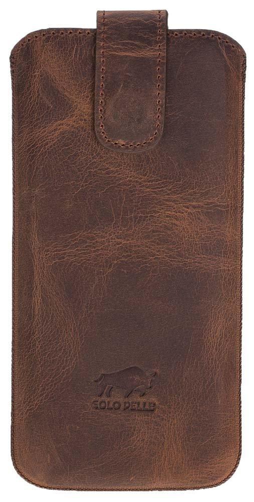 "iPhone X / XS Hülle - ""Multi-CC"" unterstützt Qi-Ladung - Vintage Braun aus Leder"