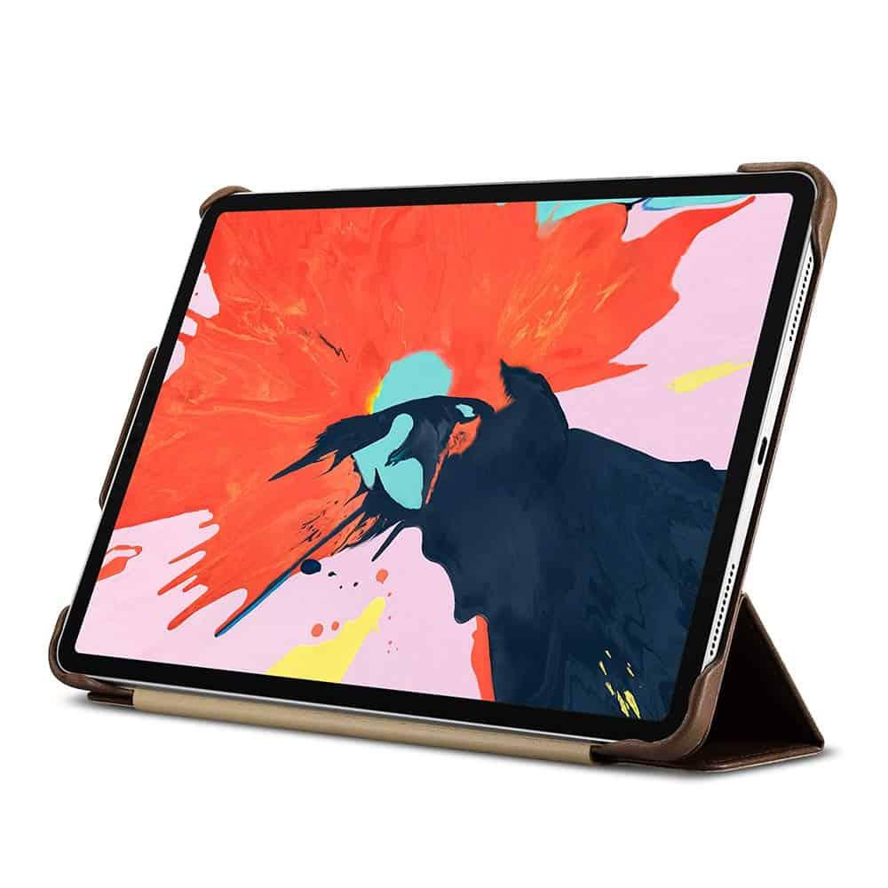 "Solo Pelle Lederhülle Miami geeignet für Apple iPad Pro 11"" 2018 Hülle Leder Case aus echtem Leder. Unterstützt Pencil 2 und magnetisches Laden. Cover Schutzhülle Echtleder (Fullcover Vintage Braun)"