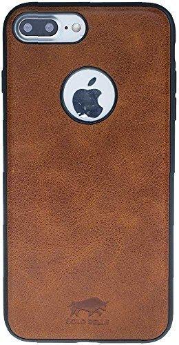 "iPhone 7 Plus / 8 Plus Hülle - ""STANFORD"" - Cognac Braun aus Leder"
