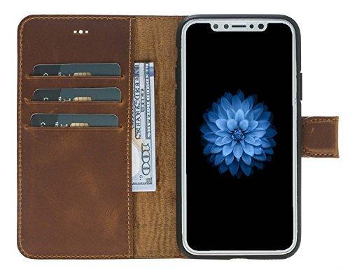 "iPhone X / XS Hülle - ""Wallet"" - Camel Braun aus Leder"