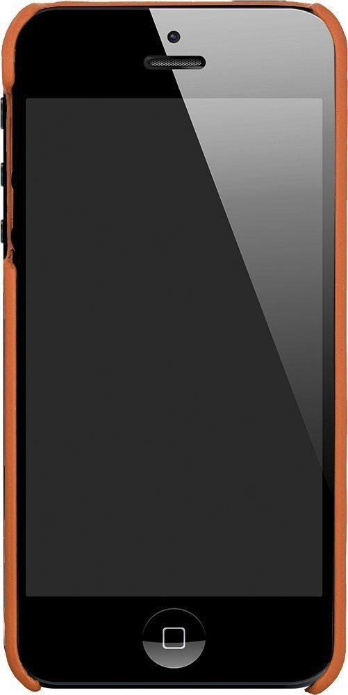 "iPhone SE / 5 / 5S Hülle - ""Ultra Slim"" - Cognac Braun aus Leder"