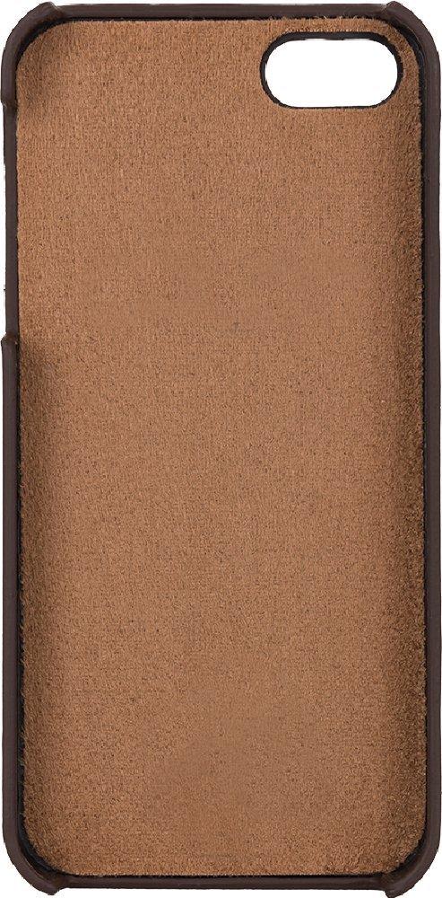"""iPhone SE / 5 / 5S Hülle - """"Yale"""" - Cognac Braun aus Leder"""
