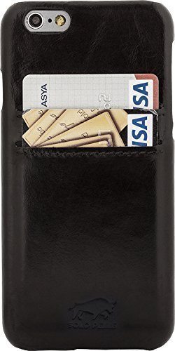 "iPhone 6/6S Hülle - ""Pomona"" - Schwarz aus Leder"