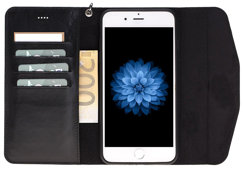 iphone 7 plus und 8 plus abnehmbare lederh lle inkl. Black Bedroom Furniture Sets. Home Design Ideas