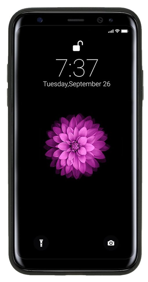 "iPhone X / XS Lederhülle ""STANFORD"" (Saffiano Schwarz)"