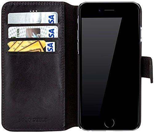 "iPhone 6 / 6S Hülle - ""Wallet"" - Schwarz aus Leder"