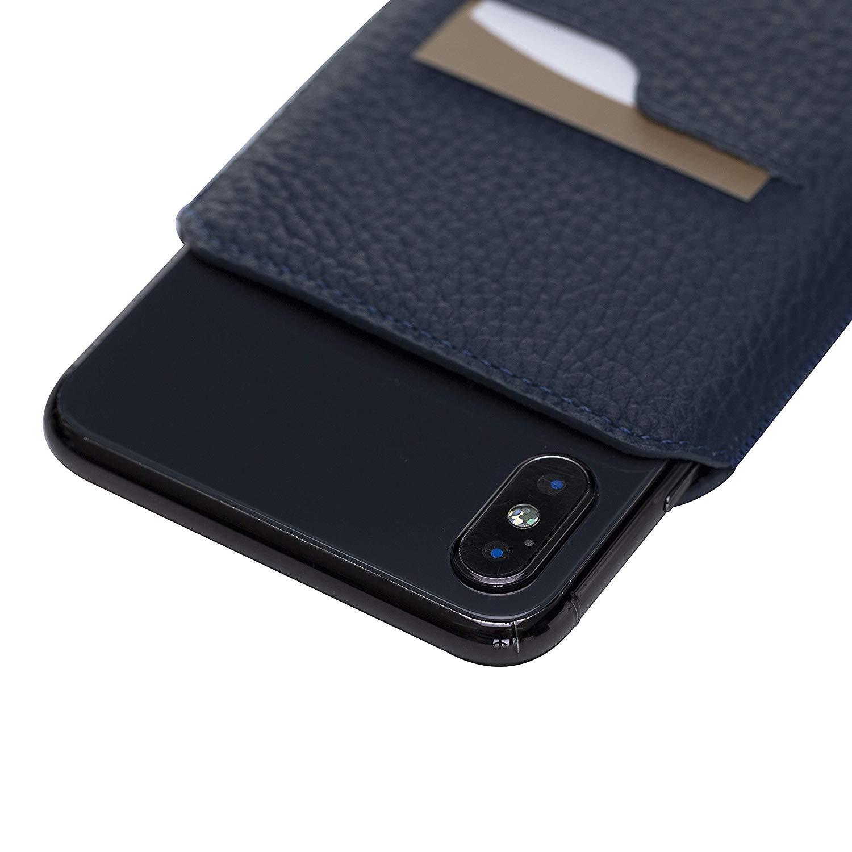iPhone XS MAX / 7 Plus / 8 Plus Lederhülle in Floater Blau
