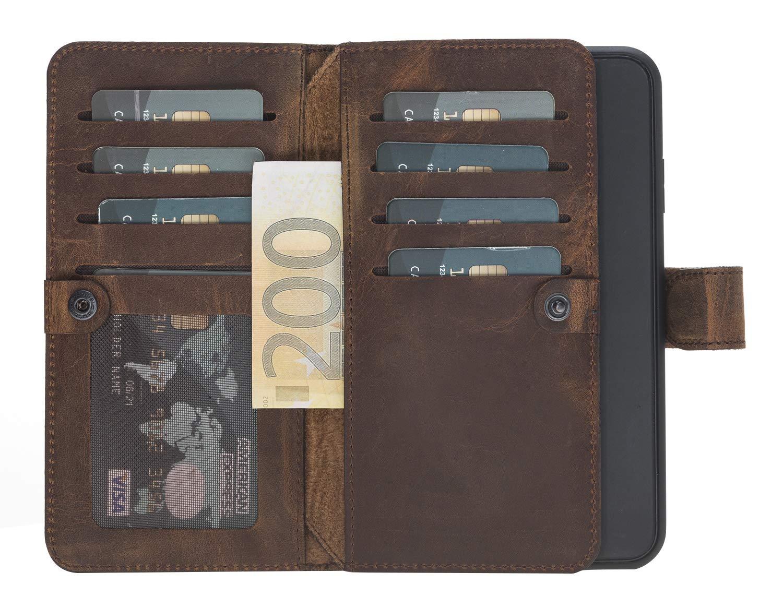 "iPhone XS Max abnehmbare Lederhülle ""Darian"" in Vintage Braun Leder Hülle Tasche Lederhülle Ledertasche"