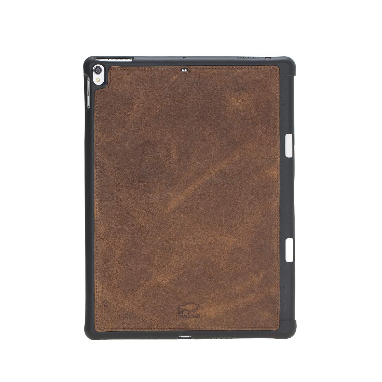 "Solo Pelle magnetische abnehmbare Lederhülle Harvard geeignet für Apple iPad Air 3 2019 & iPad Pro 10.5"" Hülle Cover Case Cognac-Braun aus echtem Leder mit Stifthalter. Dünnes Echtleder Case Schutzhülle Tasche (Vintage Braun)"