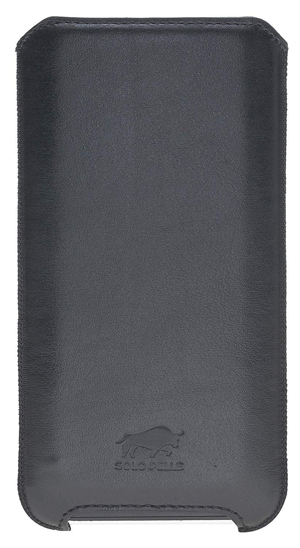 iPhone 11 & XR Hülle I Lederhülle I Ledertasche I Sleeve aus echtem Leder in Schwarz