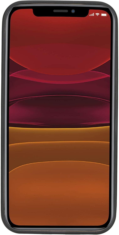 "iPhone 12 Mini Lederhülle ""Stanford"" MagSafe kompatibel (Rot Effekt)"