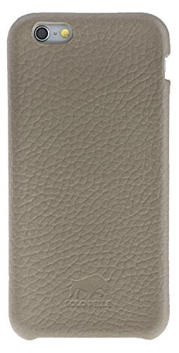 "iPhone 6 Plus / 6S Plus Hülle - ""Fullcover"" - Floater Taupe aus Leder"