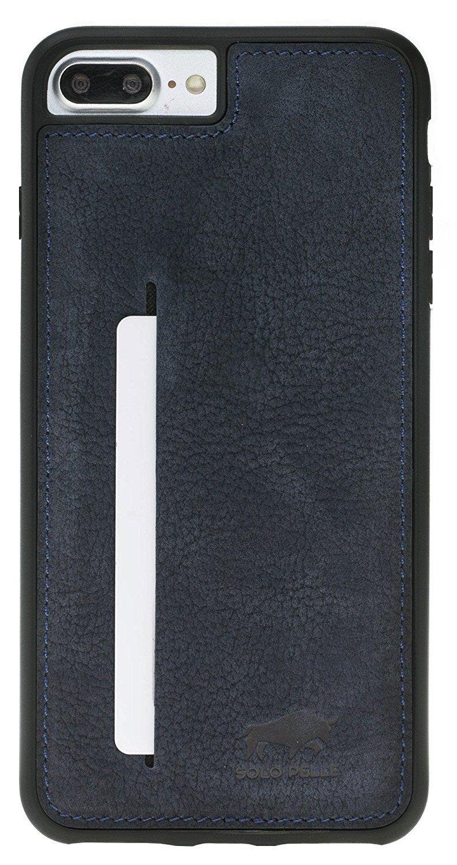 iphone 8 plus 7 plus flex cc aus echtem wildleder in blau. Black Bedroom Furniture Sets. Home Design Ideas