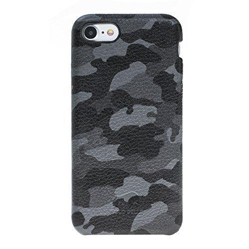 iphone 8 7 h lle fullcover camouflage grau aus leder. Black Bedroom Furniture Sets. Home Design Ideas