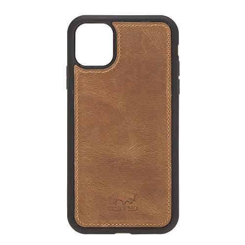 Solo Pelle Lederhülle für das iPhone 11 (XI) 6.1 Zoll Stanford Case Leder Hülle Ledertasche Backcover aus echtem Leder (Camel Braun)