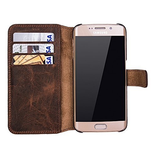 Walletcase (Samsung S6 Edge Plus in Vintage Braun)