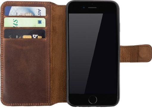 iPhone 6 Plus / 6S Plus Hülle - Abnehmbar (2in1) - Vintage Braun aus Leder