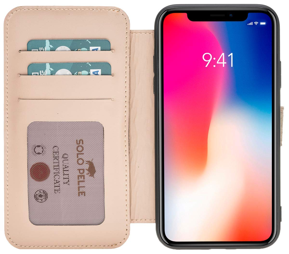 iPhone XR Walletcase in Nude