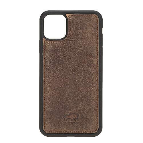 Solo Pelle Lederhülle für das iPhone 11 Pro (Max) 6.5 Zoll Stanford Case Leder Hülle Ledertasche Backcover aus echtem Leder (Vintage Braun)