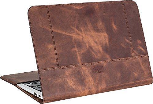 MacBook Air 11 Zoll Tasche aus echtem Leder Vintage Braun