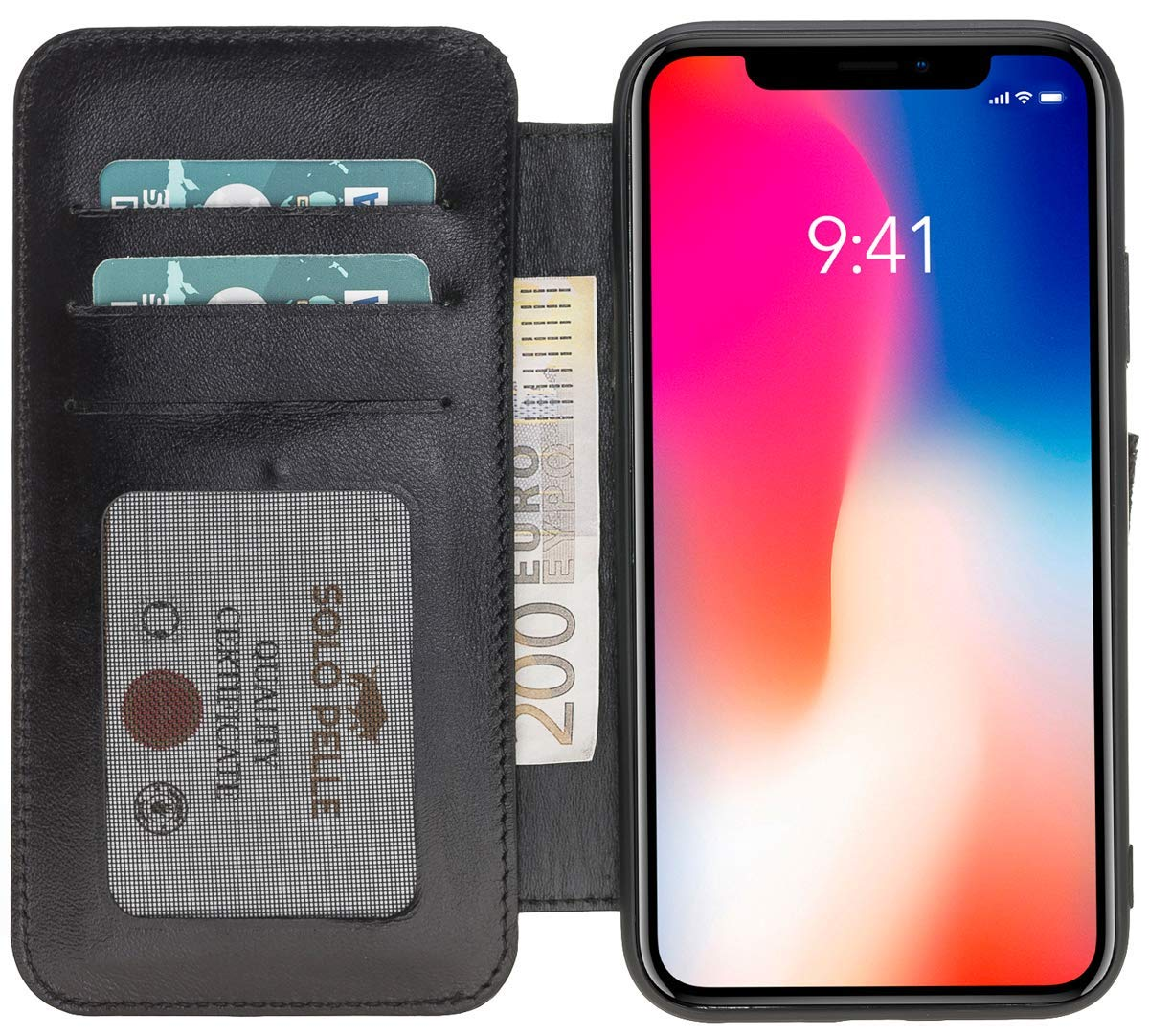 iPhone XS Max Walletcase in Schwarz