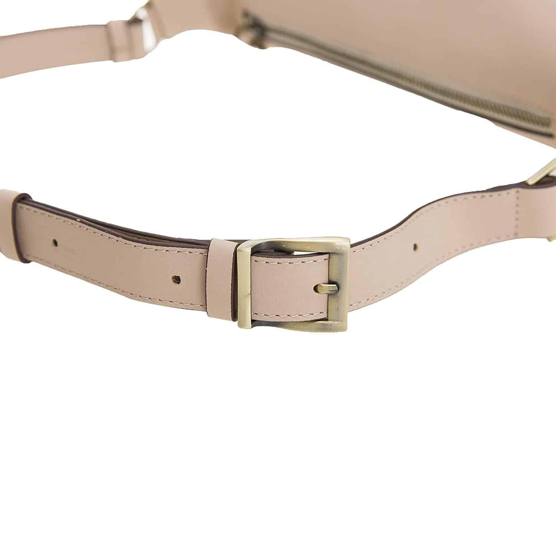 Solo Pelle Bauchtasche/Brusttasche aus echtem Leder Belt Beltbag (Nude Rosa)