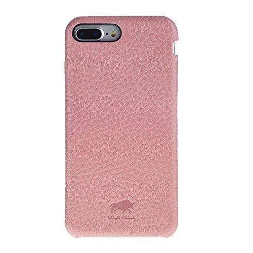 """iPhone 8 Plus / 7 Plus Hülle - """"Fullcover"""" - Rosa aus Leder"""