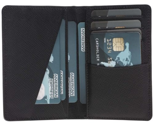 Solo Pelle Kartenetui Leder Geldbörse | Kreditkartenhülle für stillbewusste Männer | Elegantes Visitenkarten-Etui | Kleine Geldbörse für Scheckkarten, Ausweis u. Geld-Noten