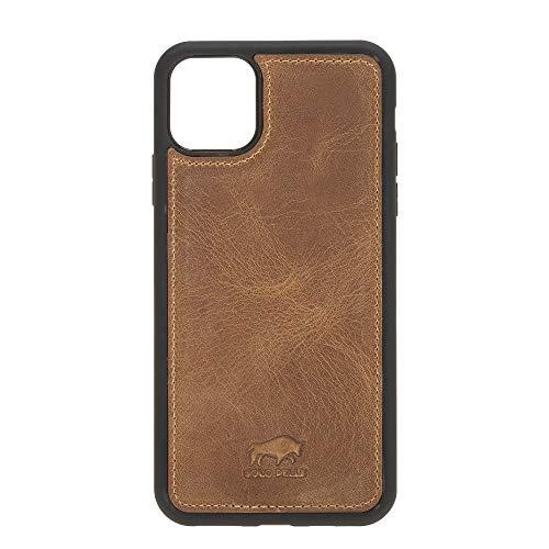 Solo Pelle Lederhülle für das iPhone 11 Pro (Max) 6.5 Zoll Stanford Case Leder Hülle Ledertasche Backcover aus echtem Leder (Camel Braun)
