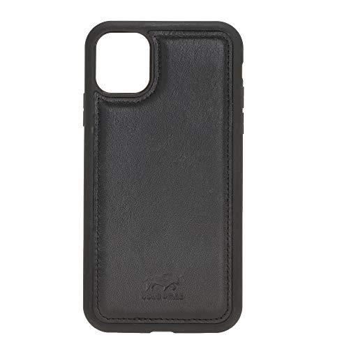 Solo Pelle Lederhülle für das iPhone 11 (XI) 6.1 Zoll Stanford Case Leder Hülle Ledertasche Backcover aus echtem Leder (Schwarz)