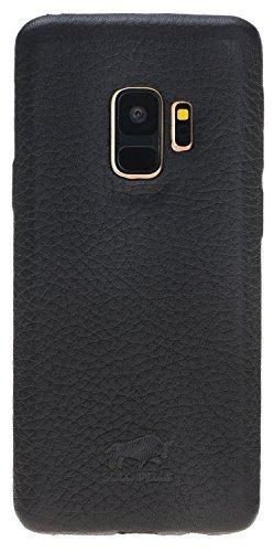 Samsung Galaxy S9 Lederhülle Ultra Cover aus genarbtem Leder Schwarz