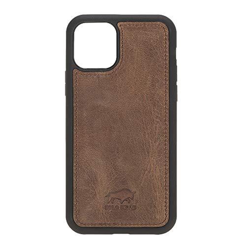 Solo Pelle Lederhülle für das iPhone 11 Pro in 5.8 Zoll Stanford Case Leder Hülle Ledertasche Backcover aus echtem Leder (Vintage Braun)