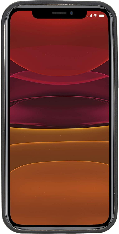 "iPhone 12   12 Pro Leder Case ""Stanford"" MagSafe kompatibel (Cognac Braun)"