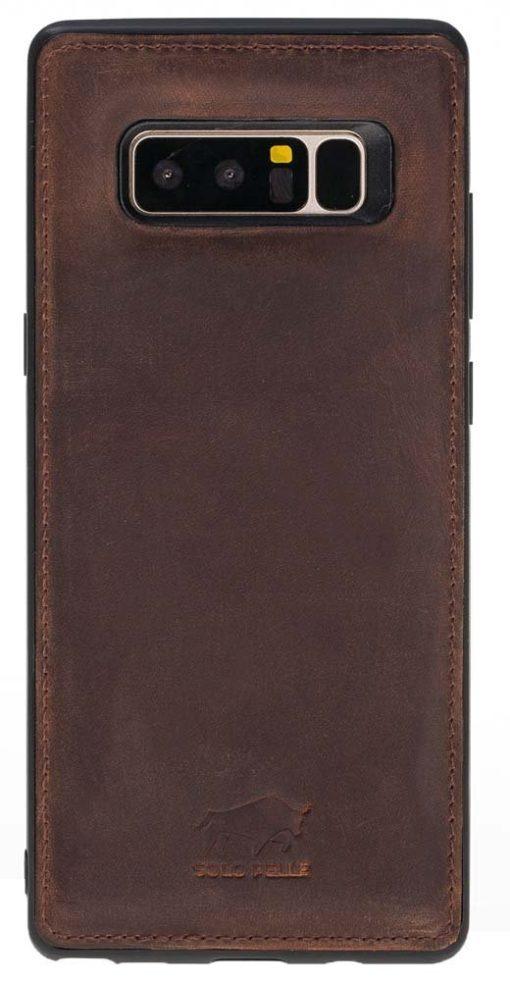 """Samsung Note 8 Leder Hülle """" Flex """" aus echtem Leder in Vintage Braun"""