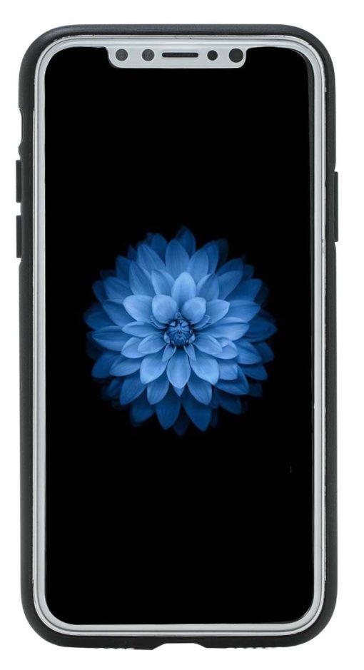 "iPhone X / XS Lederhülle ""STANFORD"" (Schwarz)"